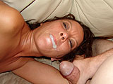 Hot Wife Swallows Mouthful of Cum