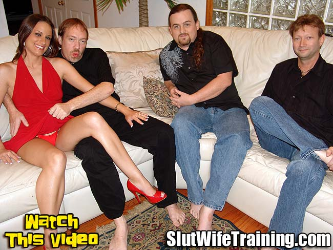 Voyeur Husband Sends Wife to Slut Training