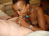Ebony Wife Sucking Cock