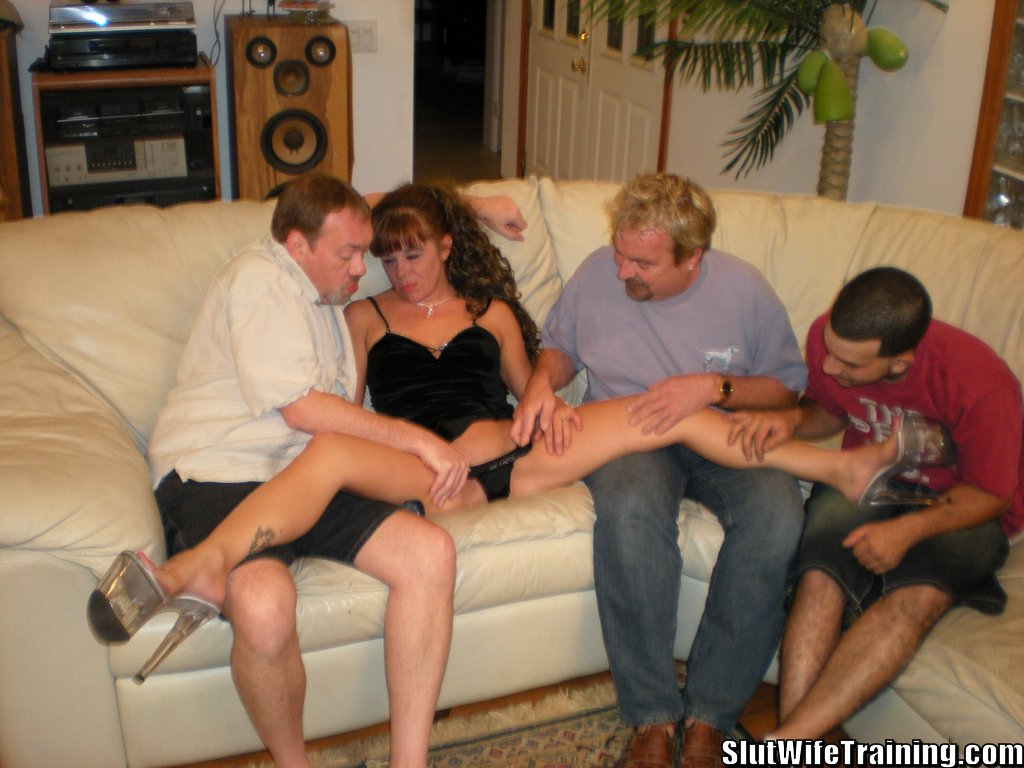 Slut wife takes multiple creampies in gangbang 2